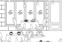 Coloring Pages for Restaurants - Imprimer Coloriage tous Au Restaurant 2016 to Print