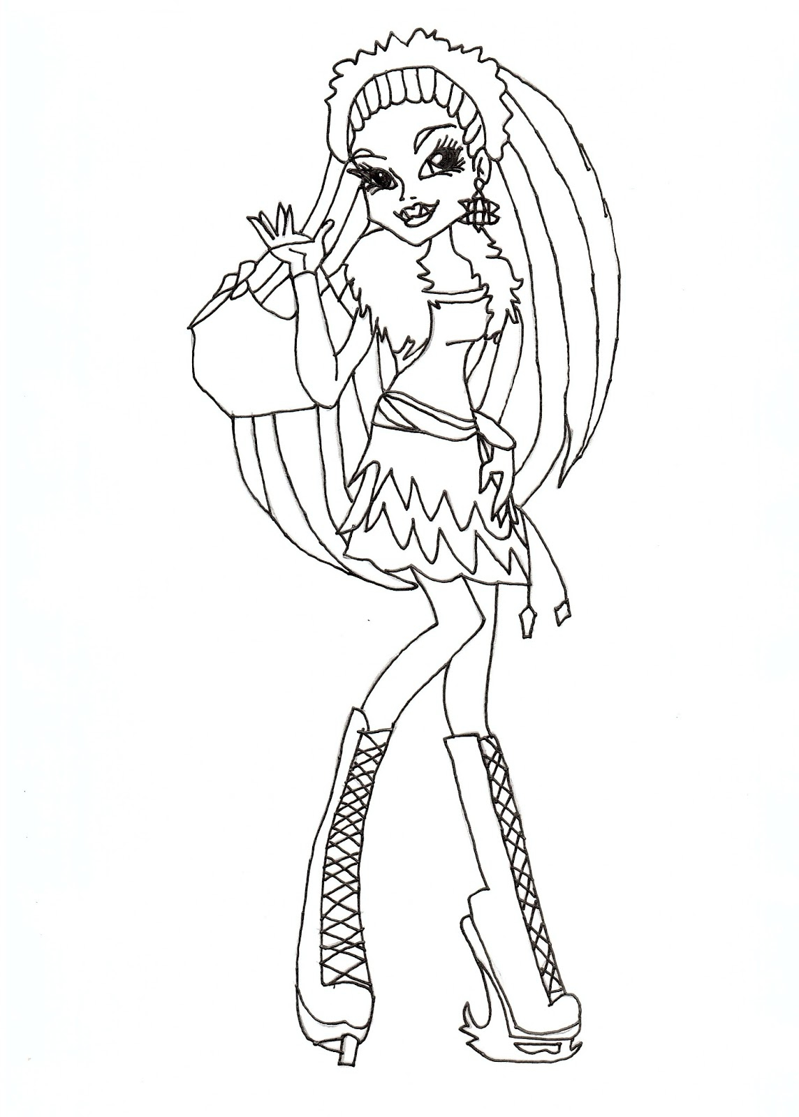 Inspiring Idea Monster High Coloring Pages 2 to Print Color Printable Of Exquisite Monster High Printables Coloring Pages Free Gallery