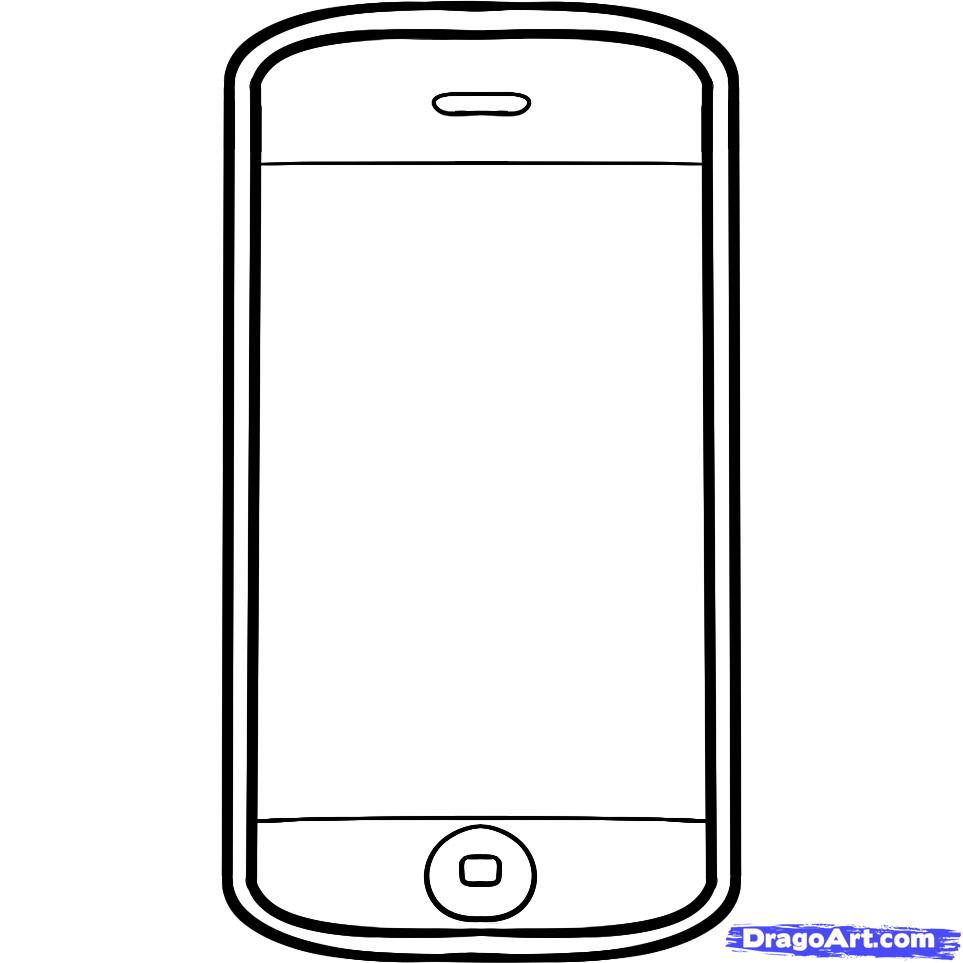iPhone Coloring Pages Printable 13l - Free For kids