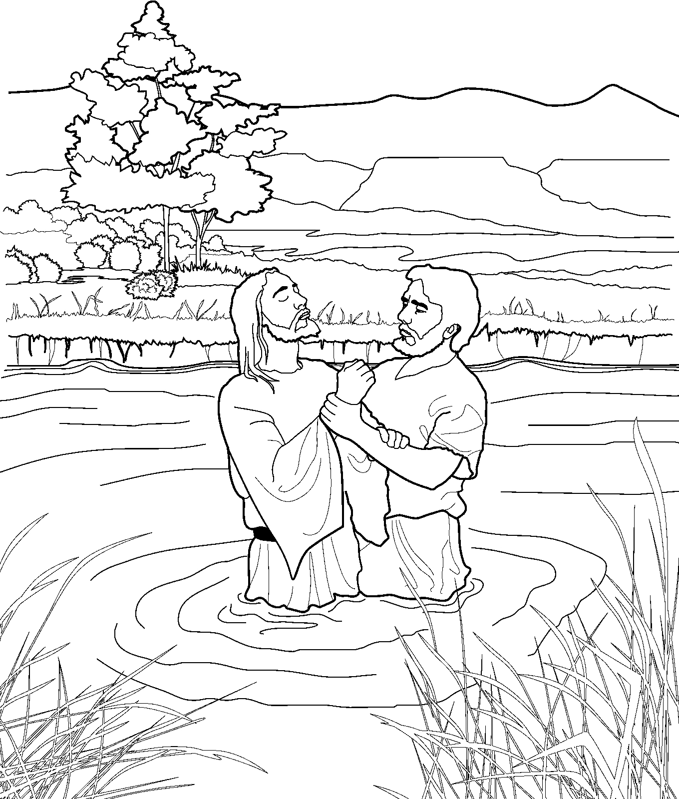 Baptism Coloring Pages Download 5f - Save it to your computer
