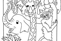 African Safari Coloring Pages - Jungle Safari Coloring Pages Download