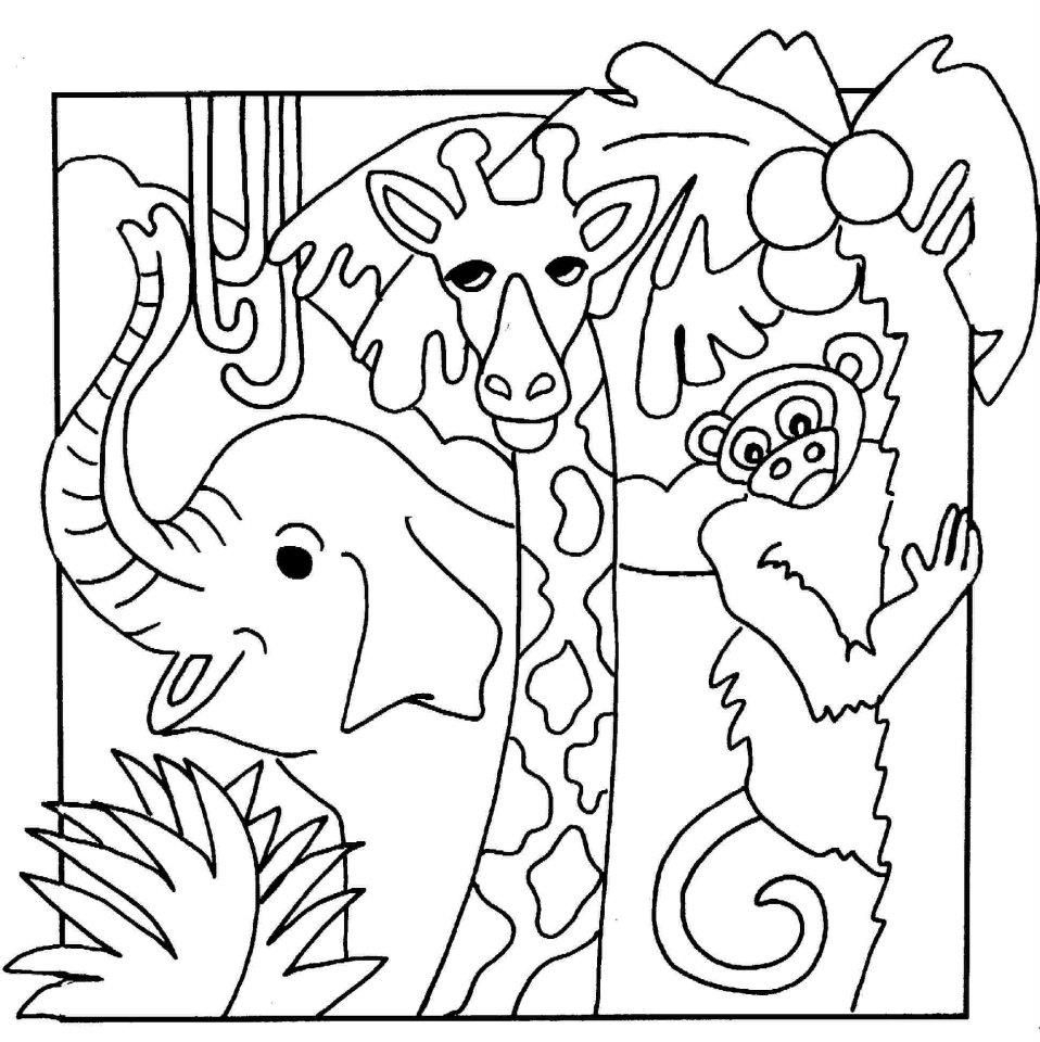African Safari Coloring Pages Printable 6p - Save it to your computer