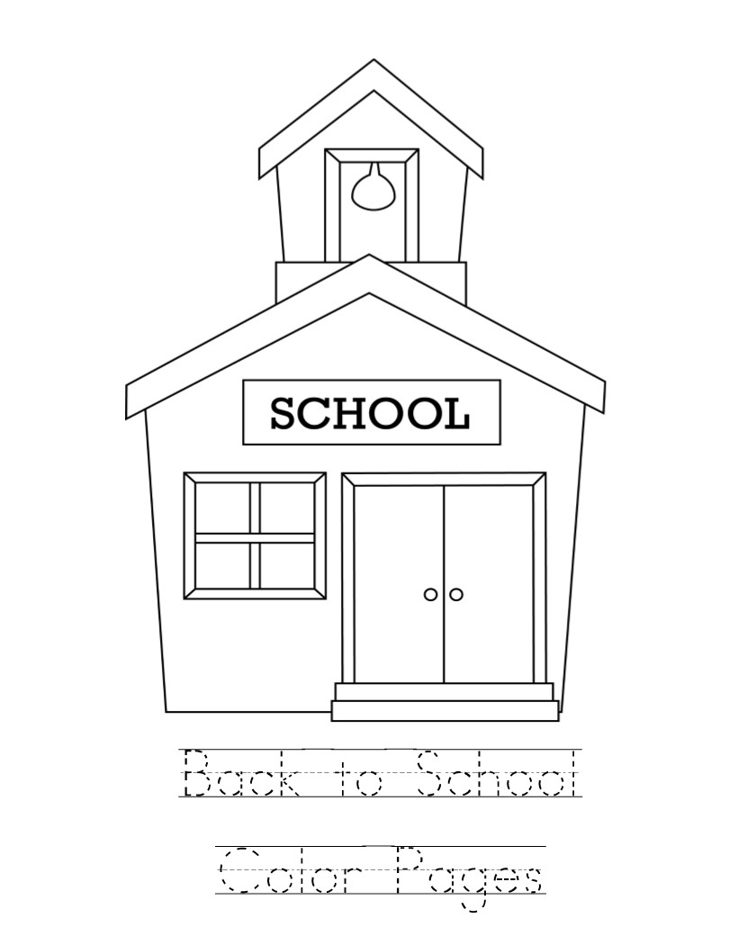 Kid Color Pages Back to School Printable Of School House Coloring Pages to Print