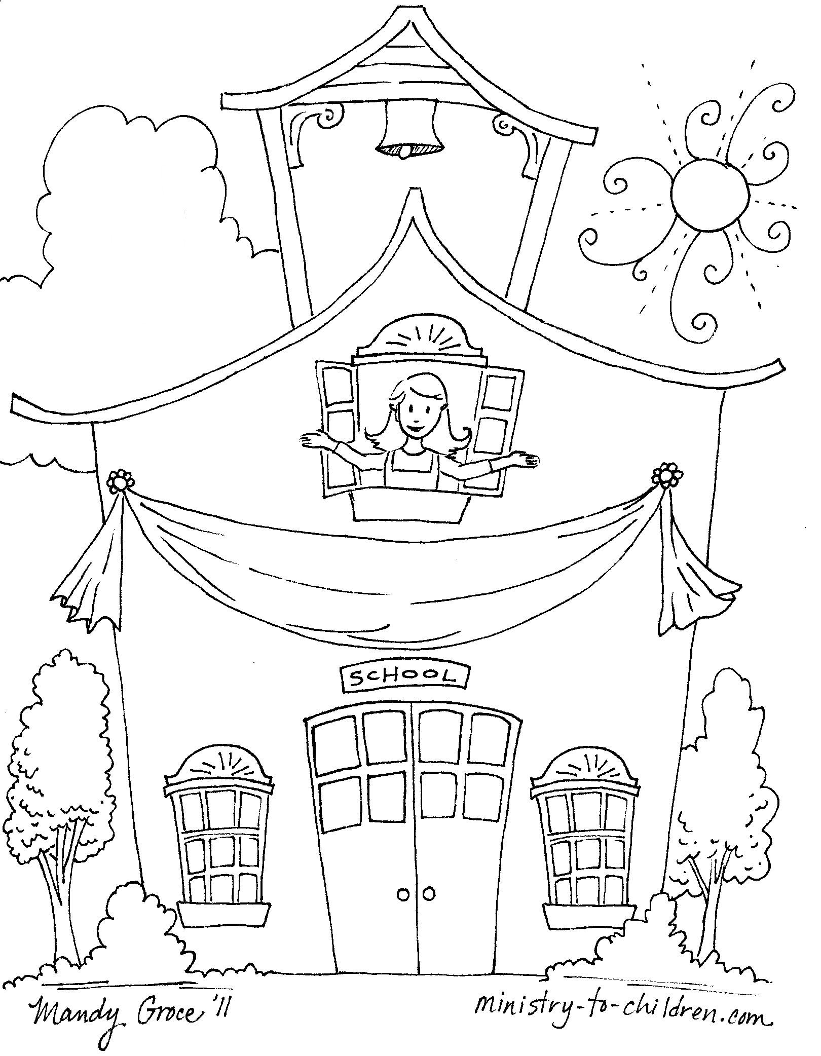 Last Day School Coloring Pages School Coloring Page Printable Gallery Of School House Coloring Pages to Print