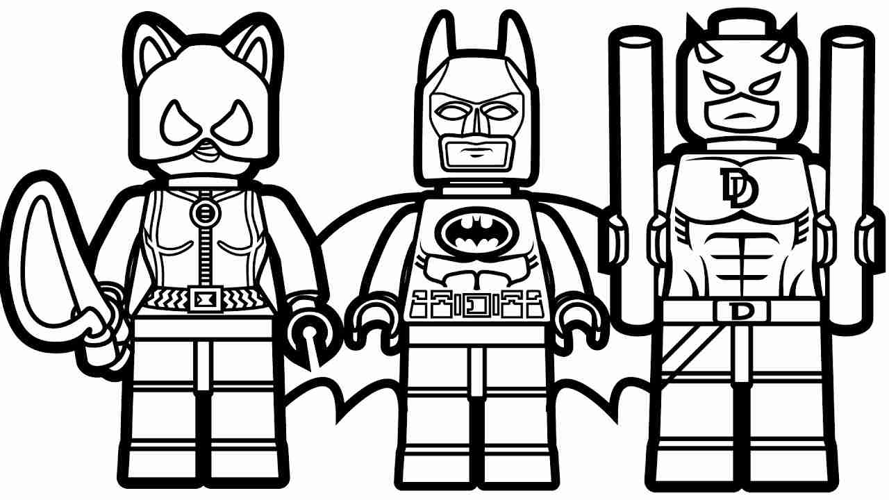 Lego Batman Coloring Page Pages Tearing Printable