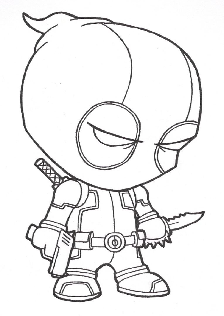 Lovely Deadpool Coloring Page In Printable Pages Coloring Download