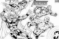 Superheroes Printable Coloring Pages - Marvel Superheroes Avengers In Action Coloring Page for Kids Printable