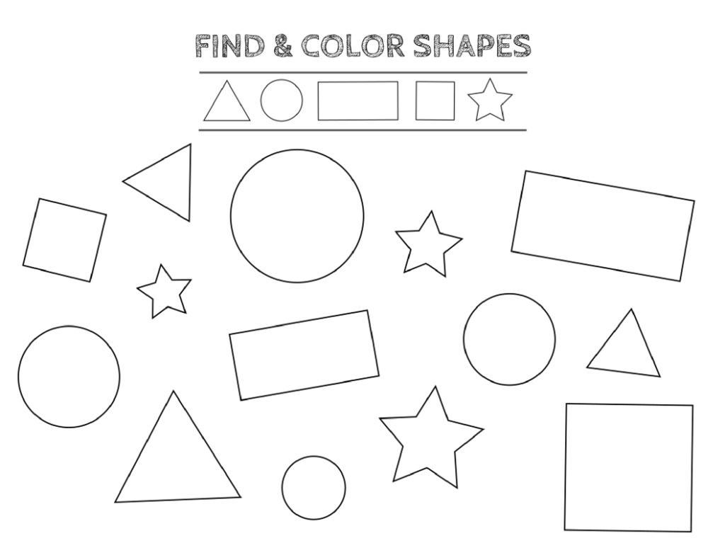 Math Free Printable Shapes Worksheets Coloring Pages and Tracing to Print Of Free Preschool Coloring Pages Page for Kindergarten School Download