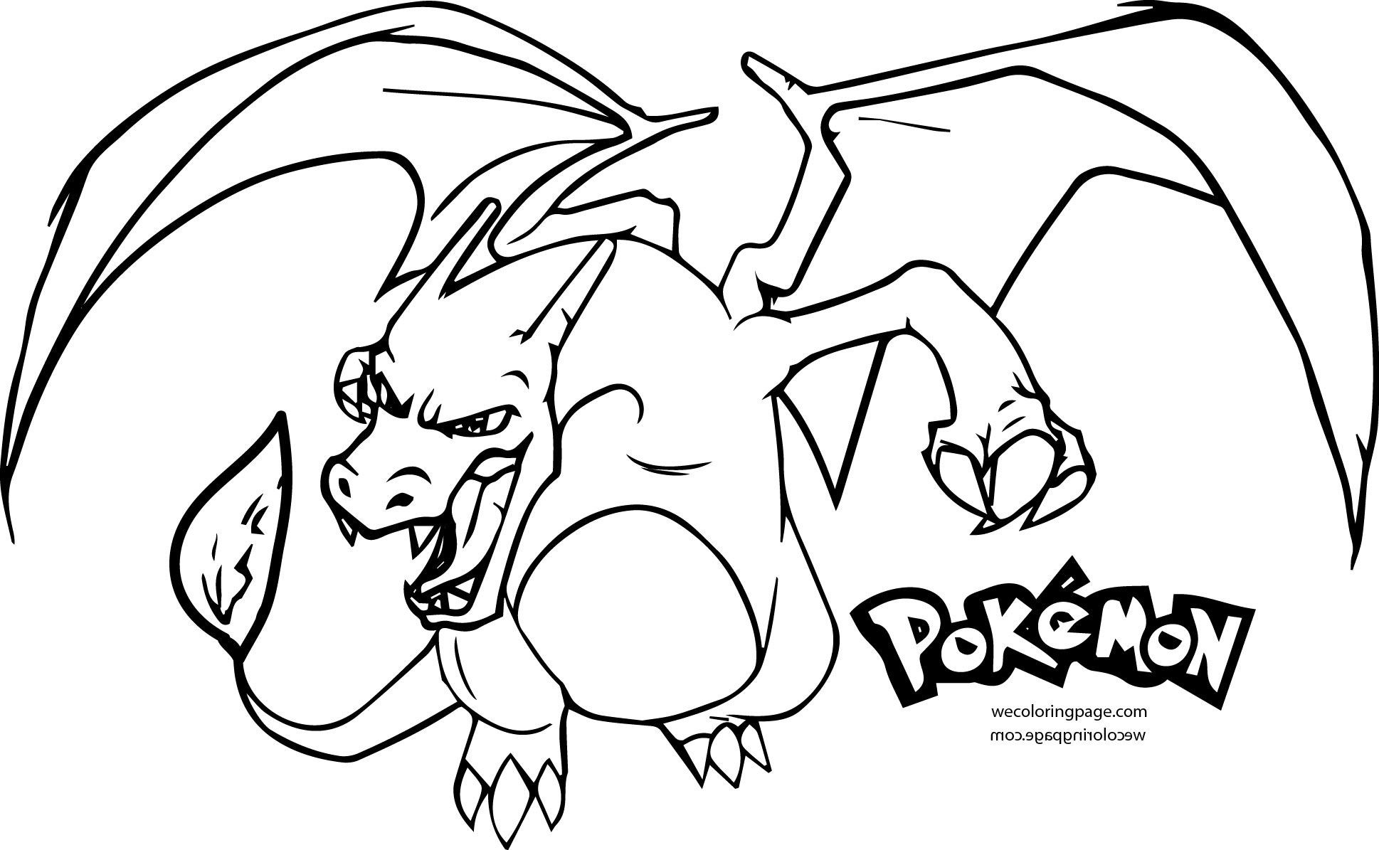 Mega Charizard Coloring Page Pages To Print Pokemon Gallery Of Colouring