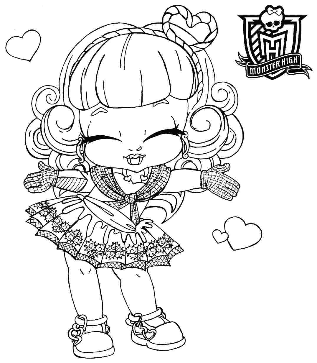 Monster High Baby Coloring Pages 012 to Coloring Pages Collection Of Exquisite Monster High Printables Coloring Pages Free Gallery