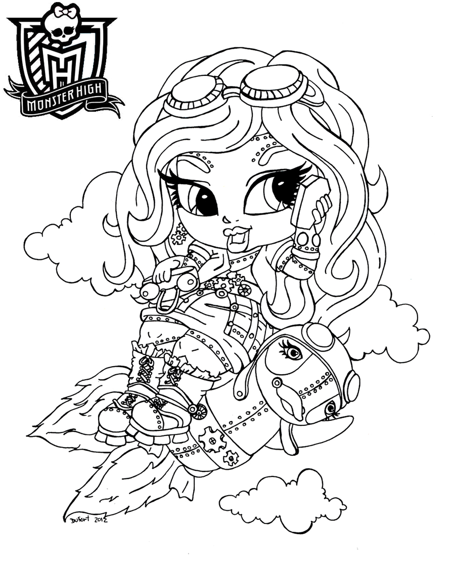 Monster High Coloring Page Gallery Of Monster High Baby Coloring Pages 012 to Coloring Pages Collection
