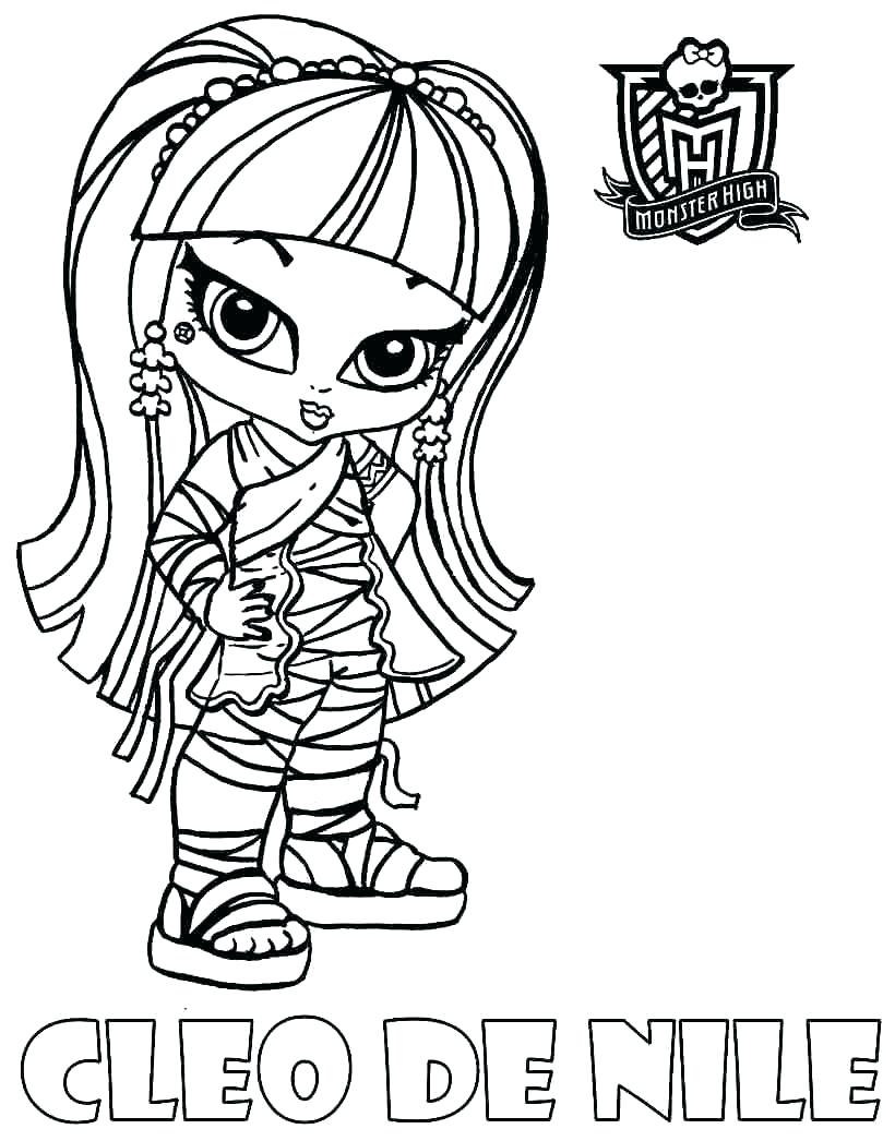 Monster High Coloring Pages Baby Page and Printables Printable Of Monster High Baby Coloring Pages 012 to Coloring Pages Collection