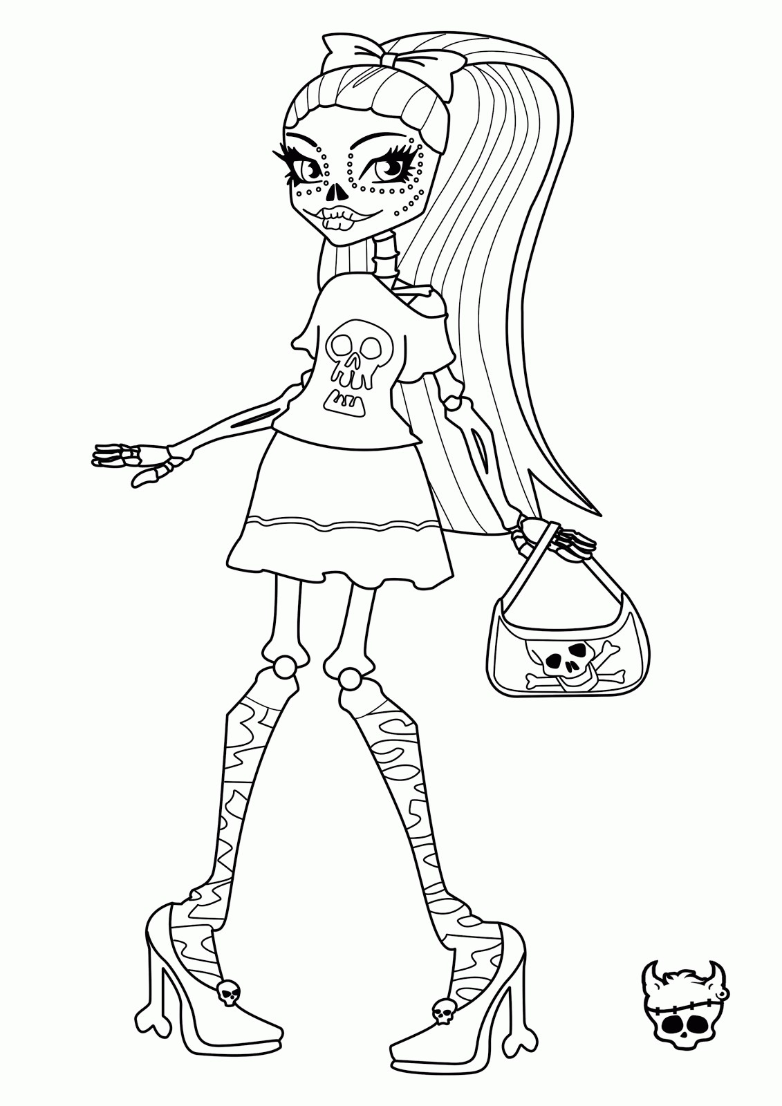 monster high coloring pages cartoon jr fresh frankie stein color to print