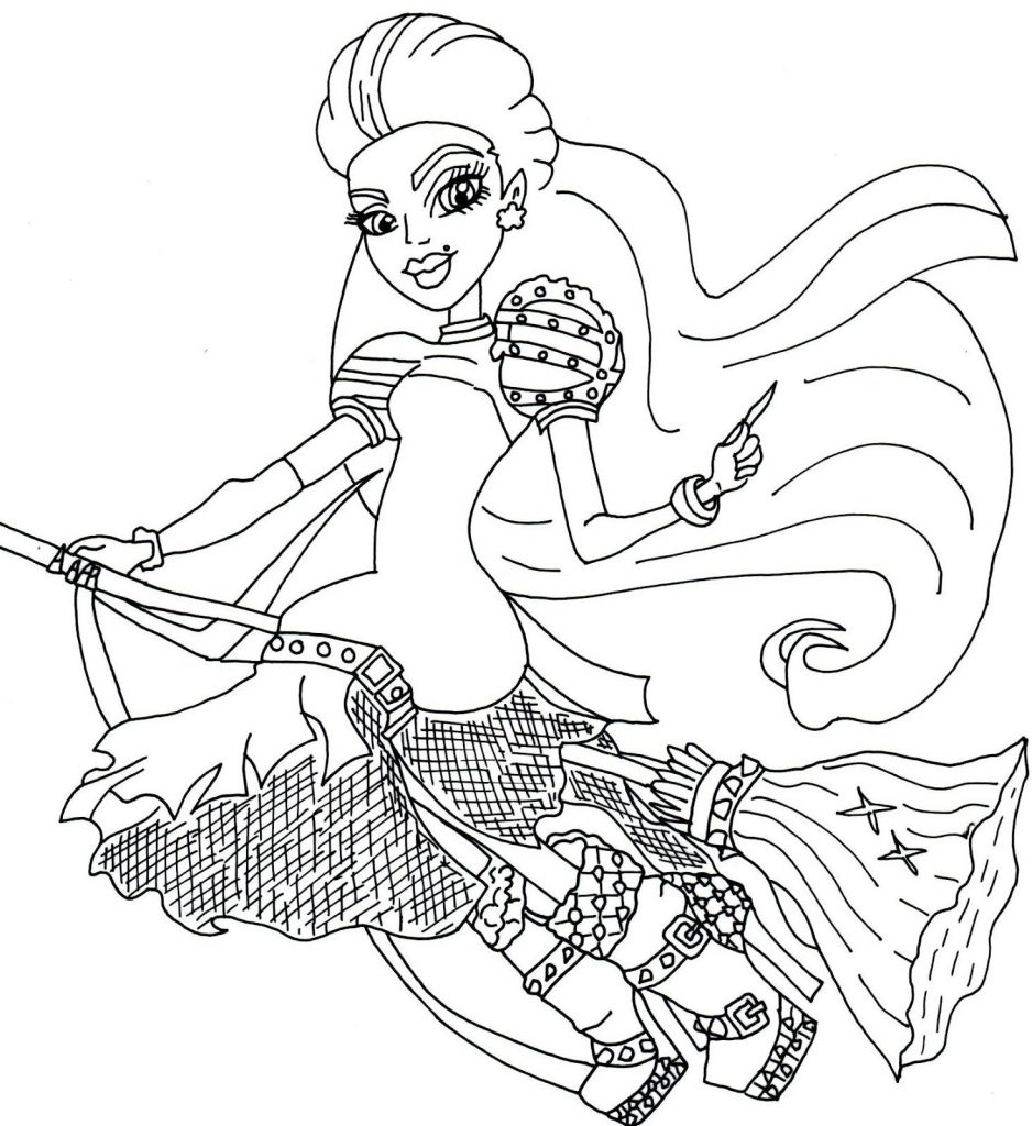 Monster High Coloring Pages You Can Print Copy Free Printable Collection Of Wydowna Spider by Elfkena On Deviantart to Print