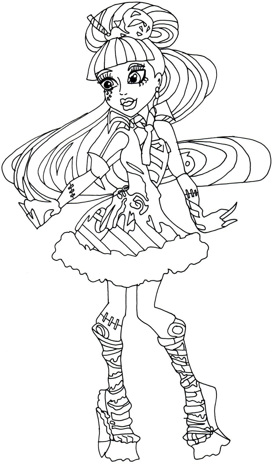 Monster High Free Printables Gallery Of Monster High Baby Coloring Pages 012 to Coloring Pages Collection
