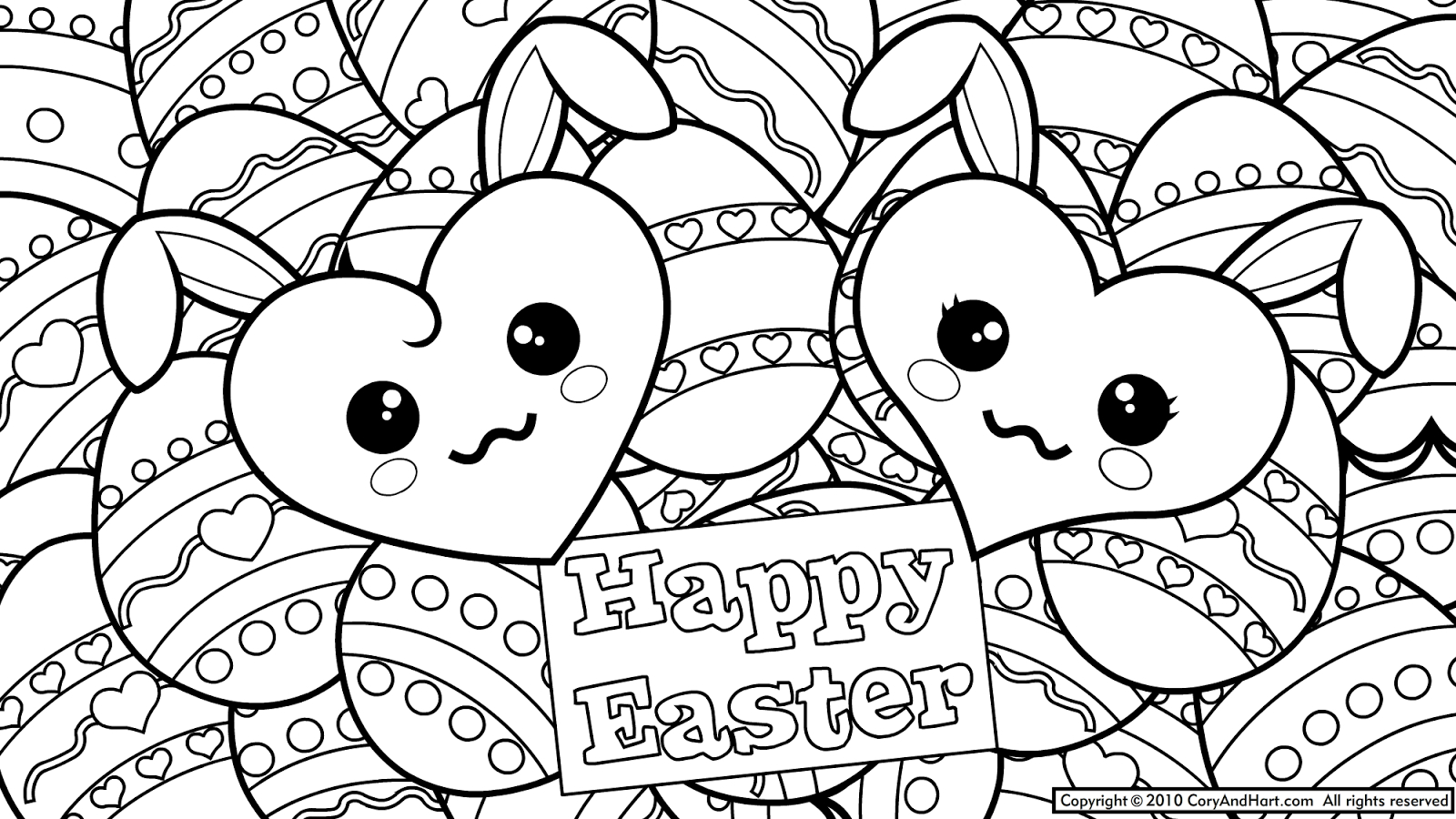 Coloring Easter Pages to Print Printable 10h - Free For kids