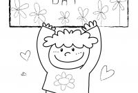 Mothers Day Coloring Pages for Preschool - Mothers Day Coloring Pages for Children Kids toddlers Collection
