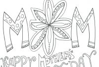Mothers Day Coloring Pages for Preschool - Mothers Day Colouring Pages for Preschoolers Coloring Doodle Art Gallery