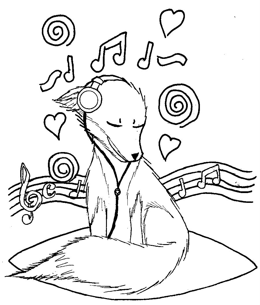 Music Coloring Pages Dog Listening to Coloringstar New to Print Of Coloring Pages Music Notes Bold Free Learning Fun Note Adult Download