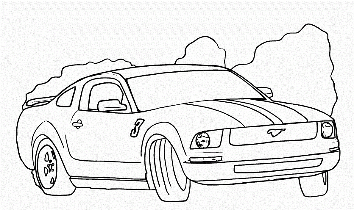 Ford Mustang Drawing at Getdrawings Printable – Free Coloring Sheets