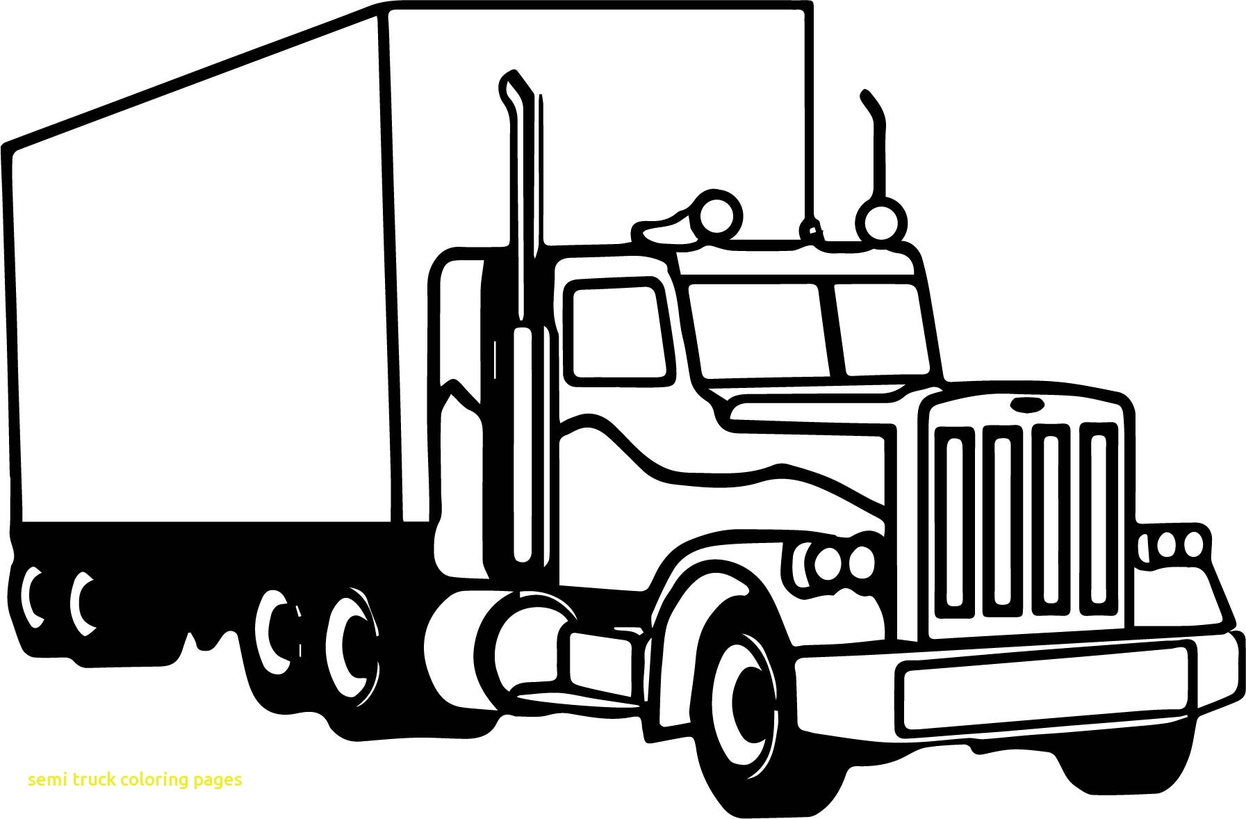 Truck Coloring Pages Gallery 16p - Free For kids