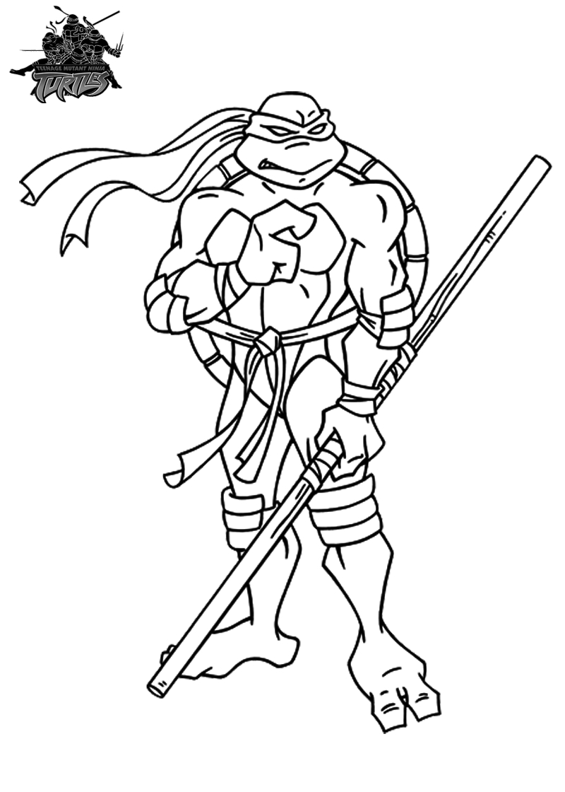 Ninja Turtles Movie Coloring Pages