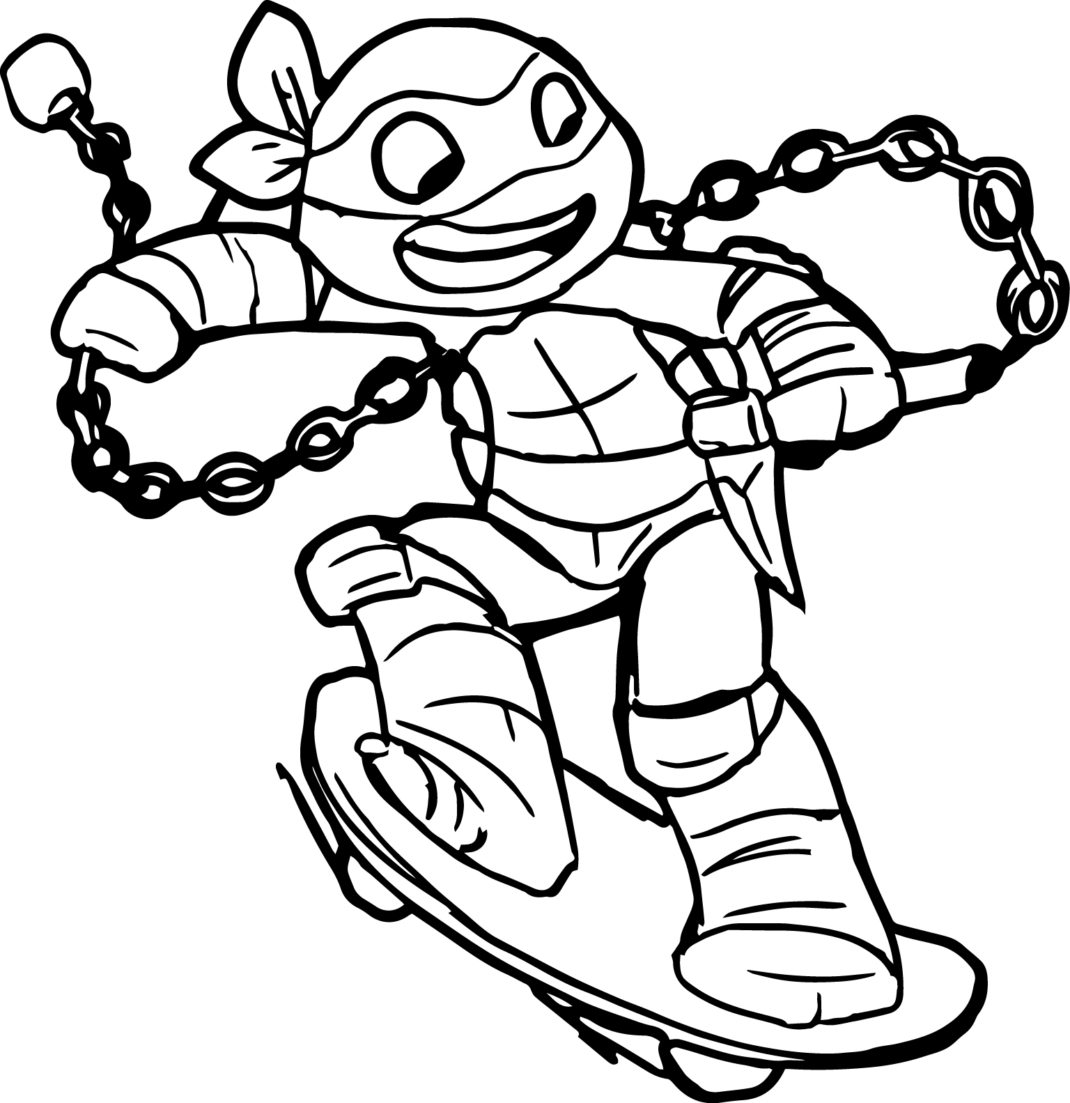 Ninja Turtles Movie Coloring Pages Collection 3g - Free For kids