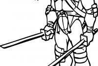 Ninja Turtles Movie Coloring Pages - Ninja Turtle Two Blade Leonardo Coloring Page Download