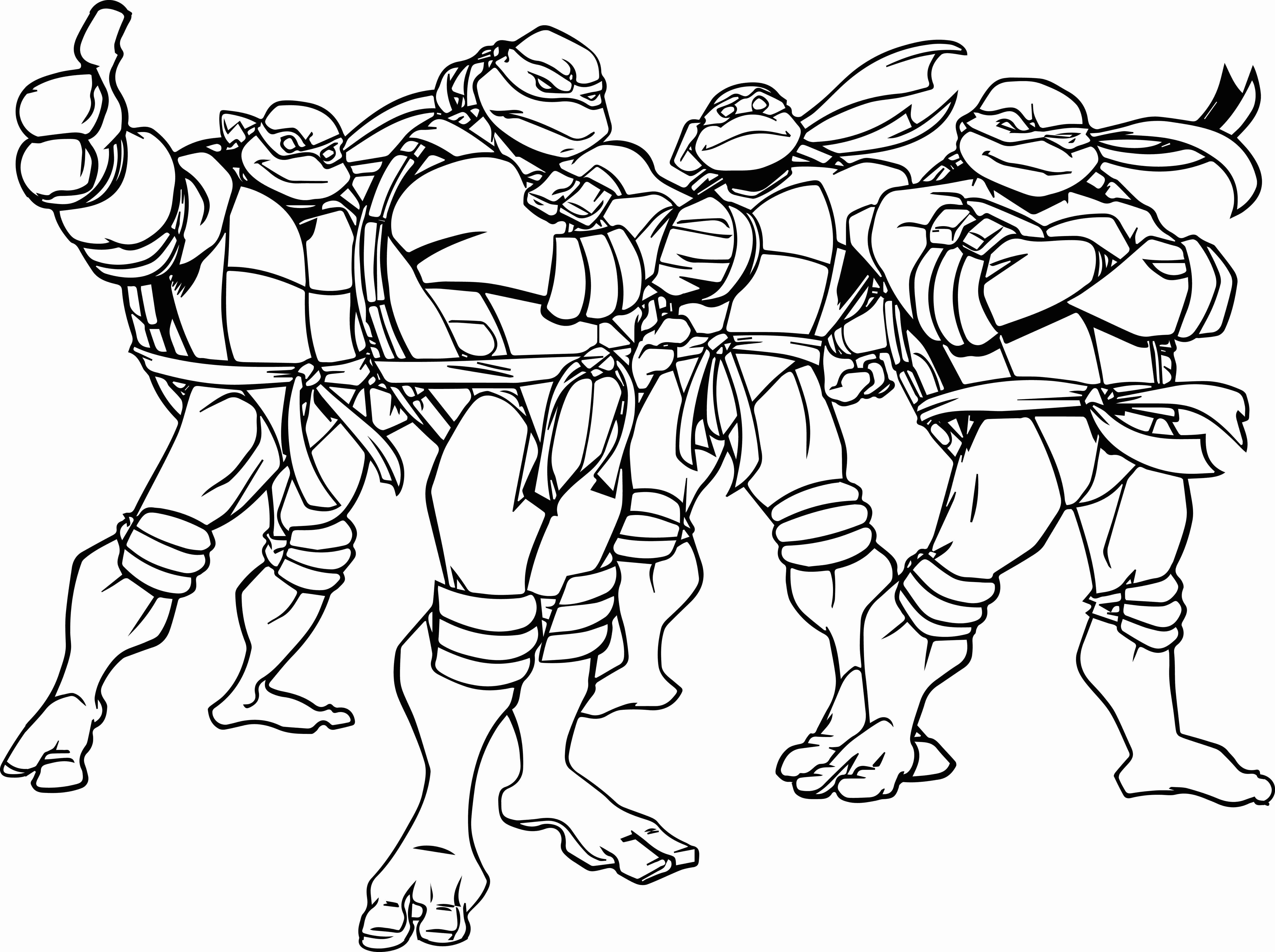 Ninja Turtle Coloring Pages Michelangelo New Manificent Decoration ...