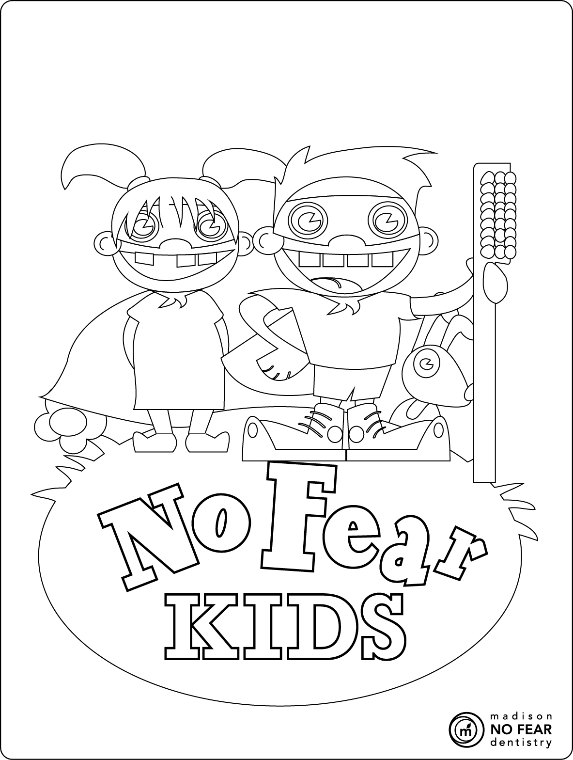 No Fear Kids Zone Download Of Free Easy Printable Coloring Pages About Teeth Collection