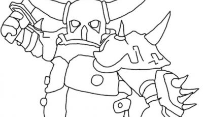 Free Clash Of Clans Coloring Pages - Pekka Mode Clash Of Clans Coloring Pages Printable