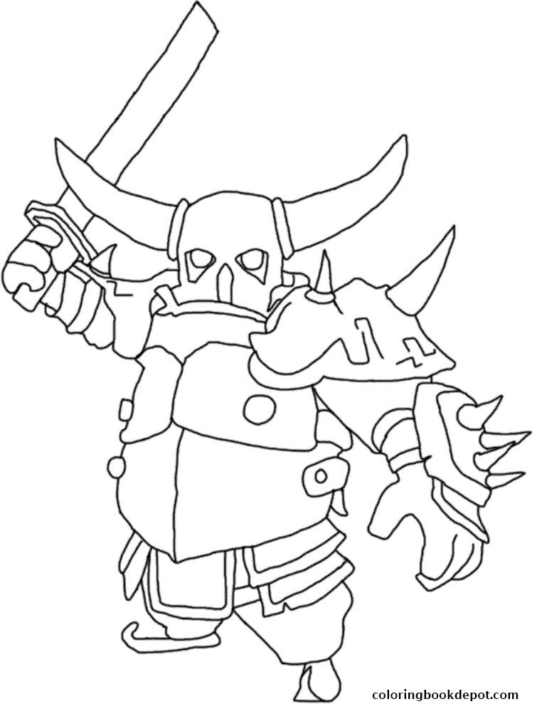 free clash of clans coloring pages to print