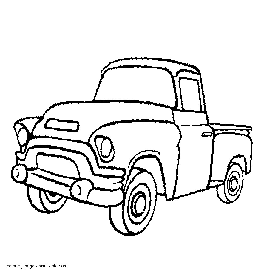 Pick Up Truck Coloring Pages 5835 1024—791 Collection Of Truck Coloring Pages Gallery