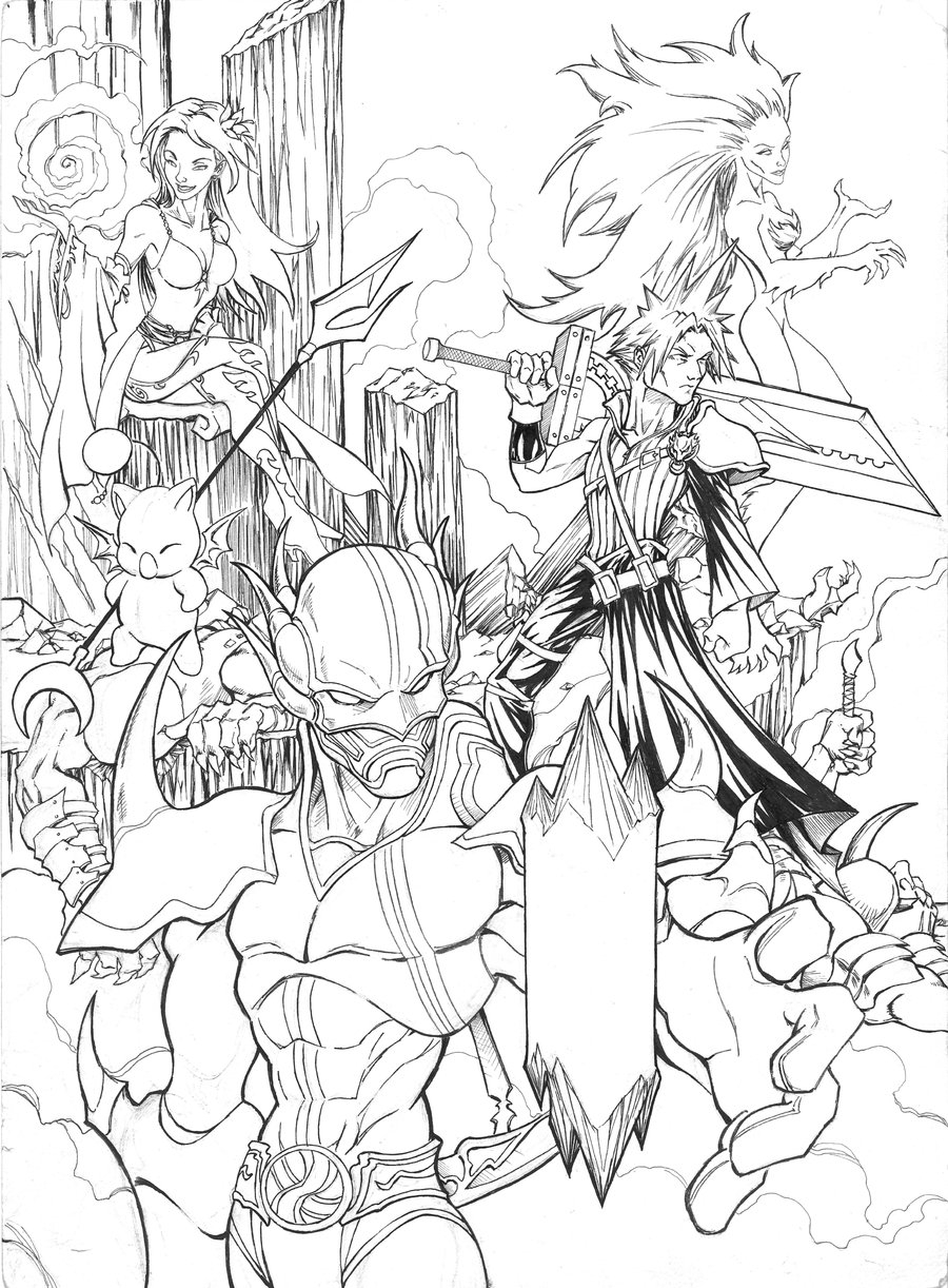 Final Fantasy Coloring Pages Gallery 12a - To print for your project
