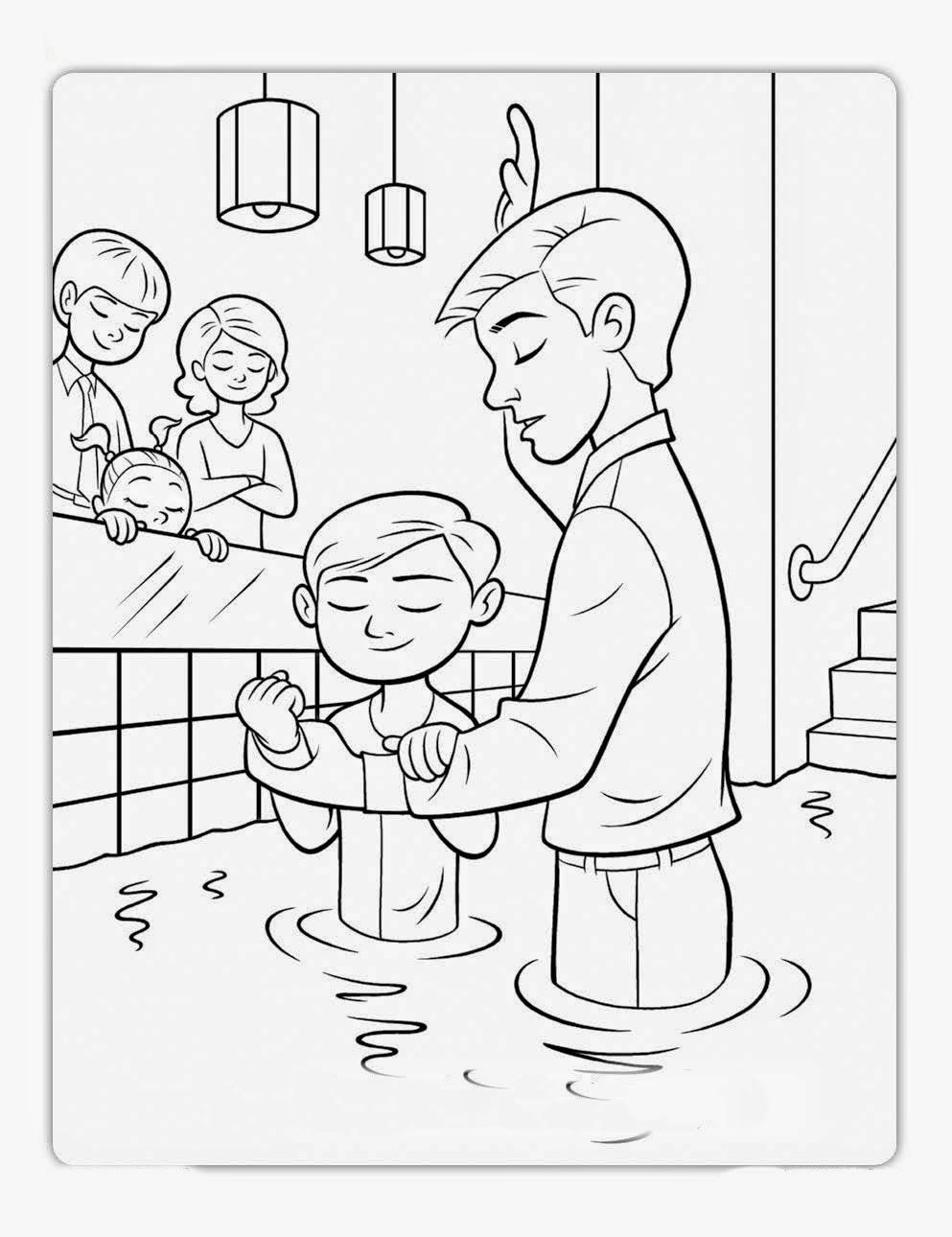 Baptism Coloring Pages Download