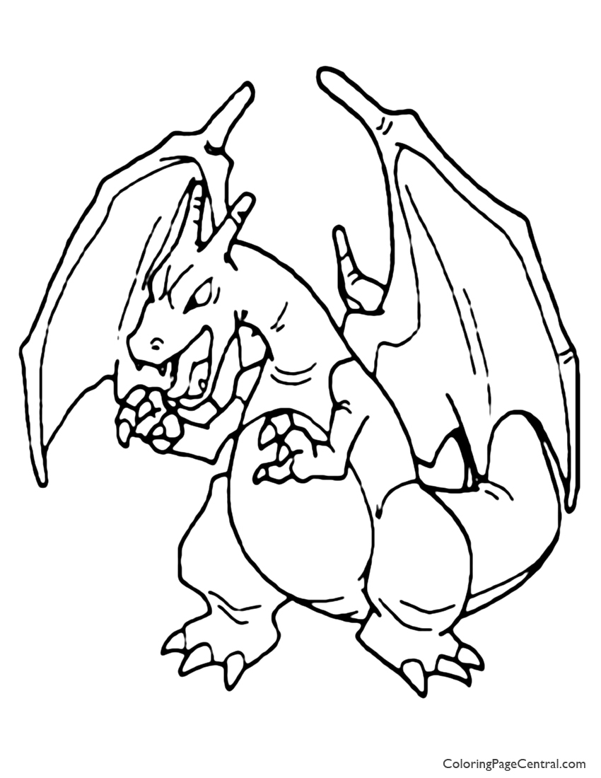 free charizard coloring pages-#22