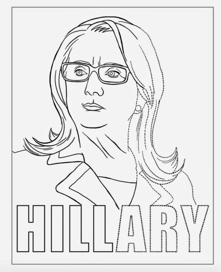 Hillary Clinton Coloring Pages Download 1i - Free For kids