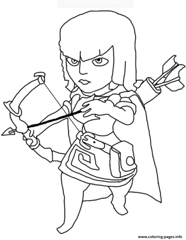 Free Clash Of Clans Coloring Pages to Print 2b - Save it to your computer
