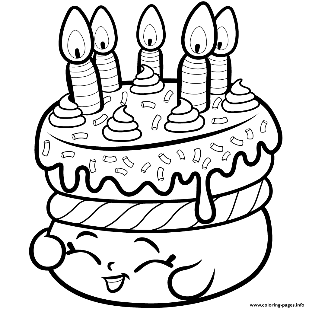 Print Cake Wishes Shopkins Season 1 From Coloring Pages Printable Of Shopkins Coloring Pages 45 Download