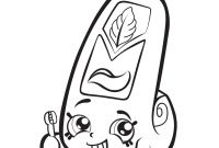 Shopkins Printable Coloring Pages - Print Cartoon toothpaste Shopkins Season 1 Coloring Pages Gallery