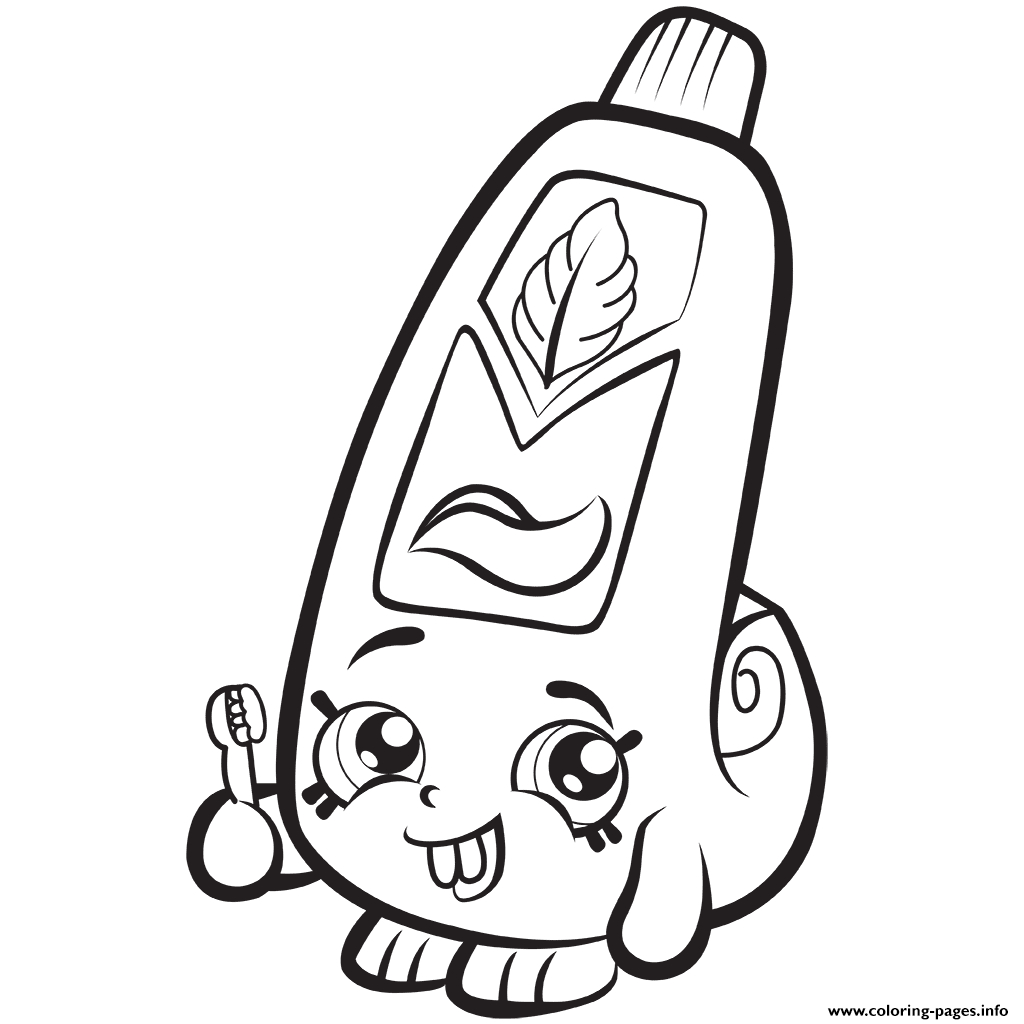 Print Cartoon toothpaste Shopkins Season 1 Coloring Pages Gallery Of Shopkins Coloring Pages 45 Download