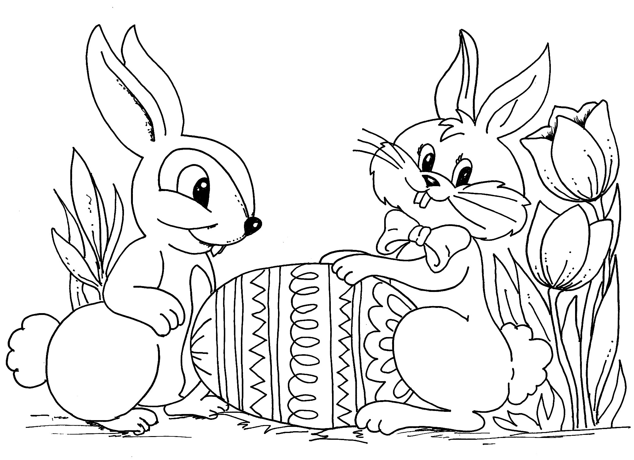 Printable Coloring Easter Pages – Color Bros Collection Of Delighted Bunny Print Out Coloring Pages Easter for Kids Crazy Printable