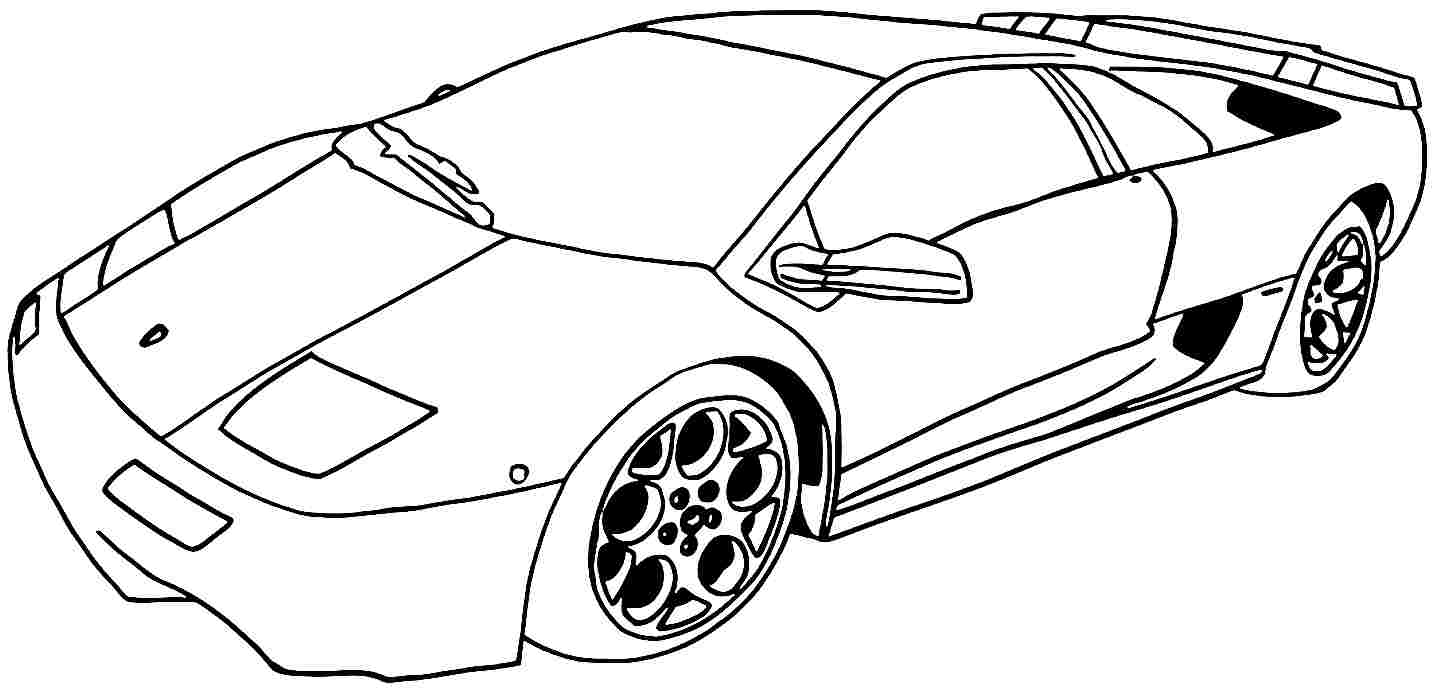 Coloring Pages Sports Cars to Print 14h - To print for your project