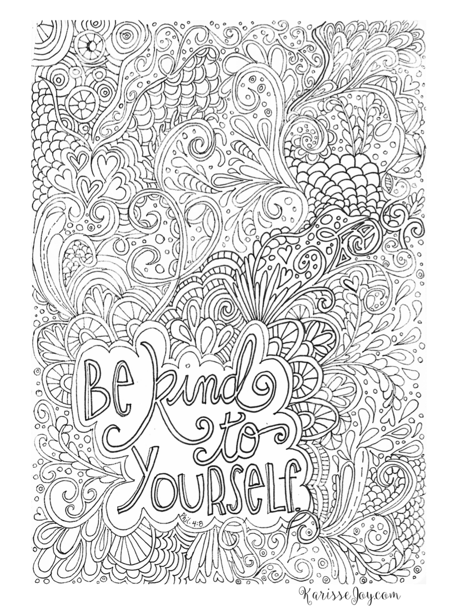 Printable Difficult Coloring Page Favourites to Print Of Free Printable Quote Coloring Pages for Grown Ups Download