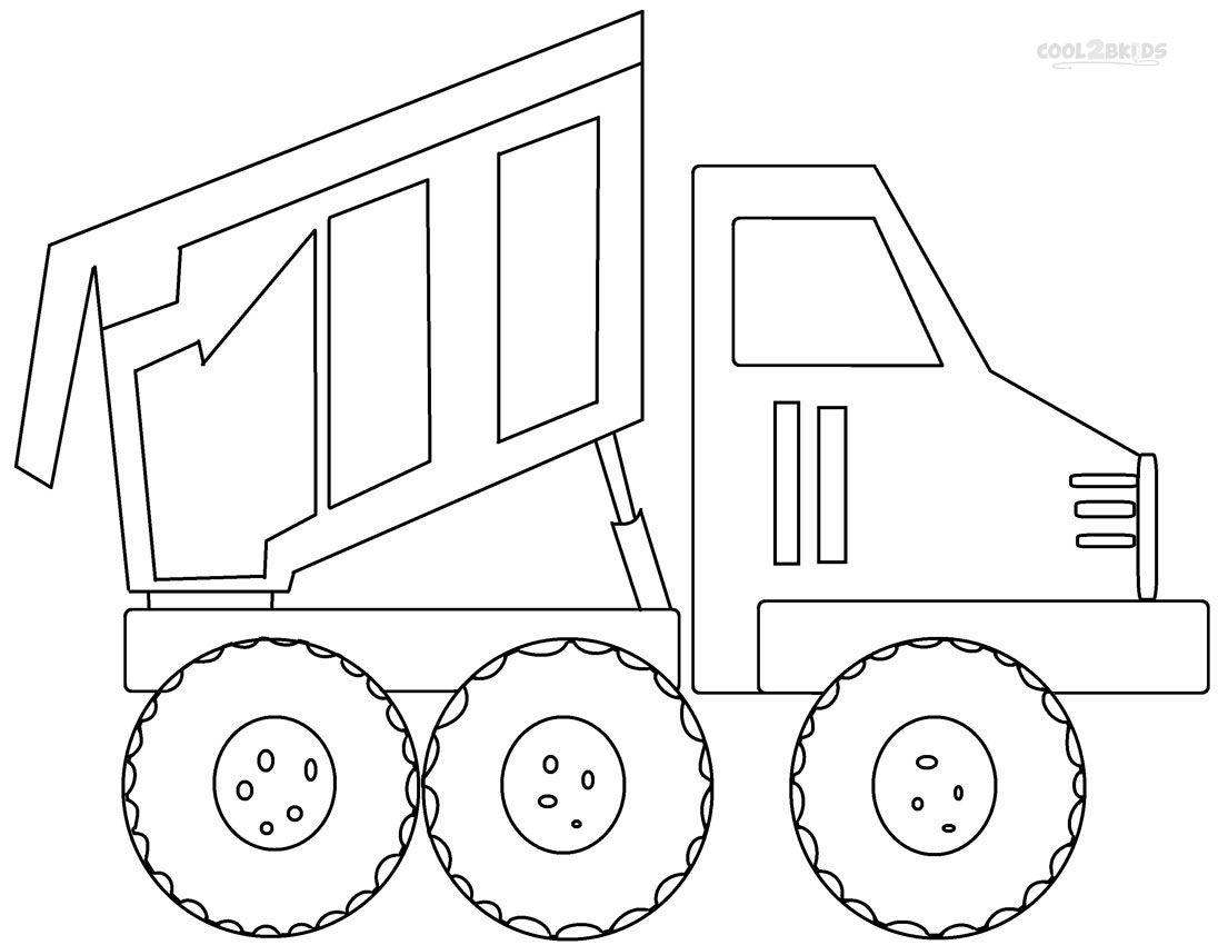 Printable Dump Truck Coloring Pages for Kids Gallery Of Truck Coloring Pages Gallery