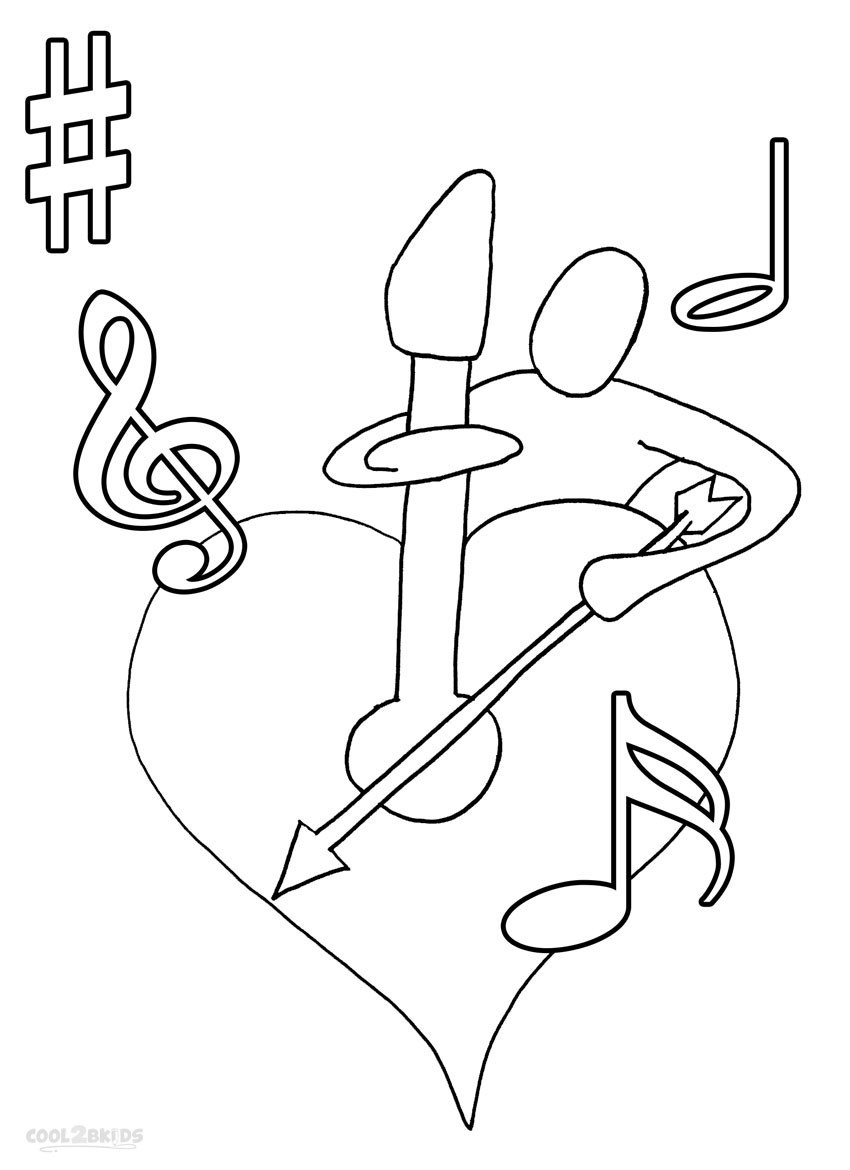 Printable Music Note Coloring Pages for Kids Cool2bkids Noticeable Collection Of Printable Music Note Coloring Pages for Kids Collection