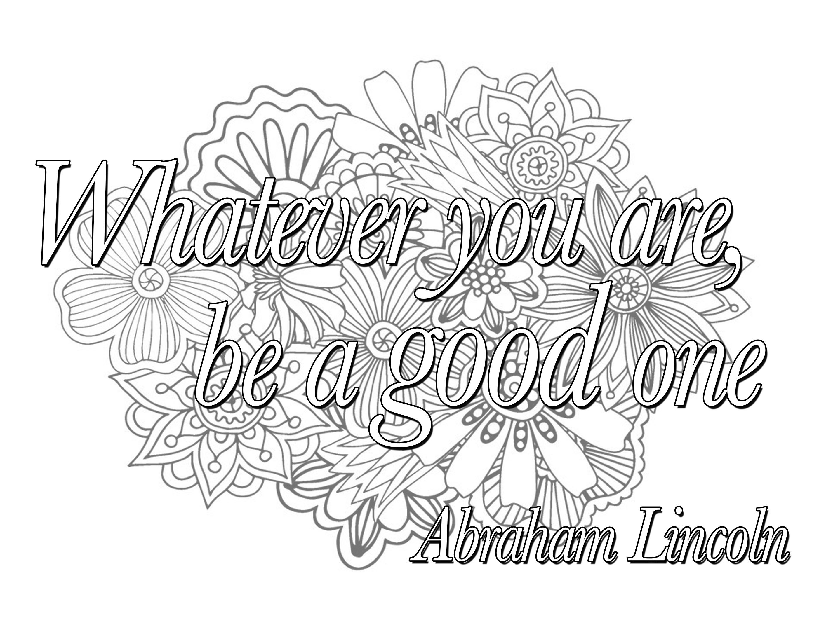 Printable Relax Yourself with Our Inspiring Quote Coloring Pages Printable Of Free Printable Quote Coloring Pages for Grown Ups Download