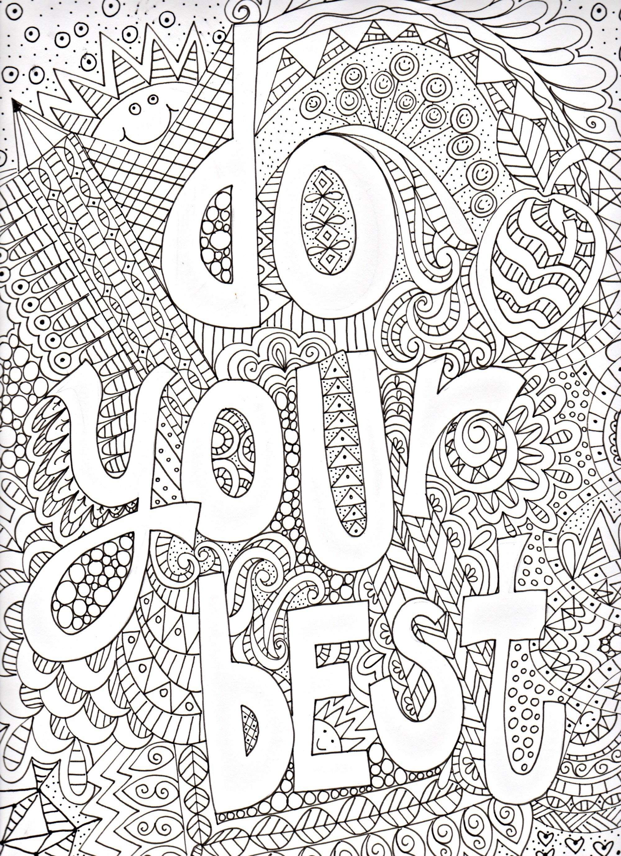 Printable Inspirational Quotes Coloring Pages Gallery | Free ...