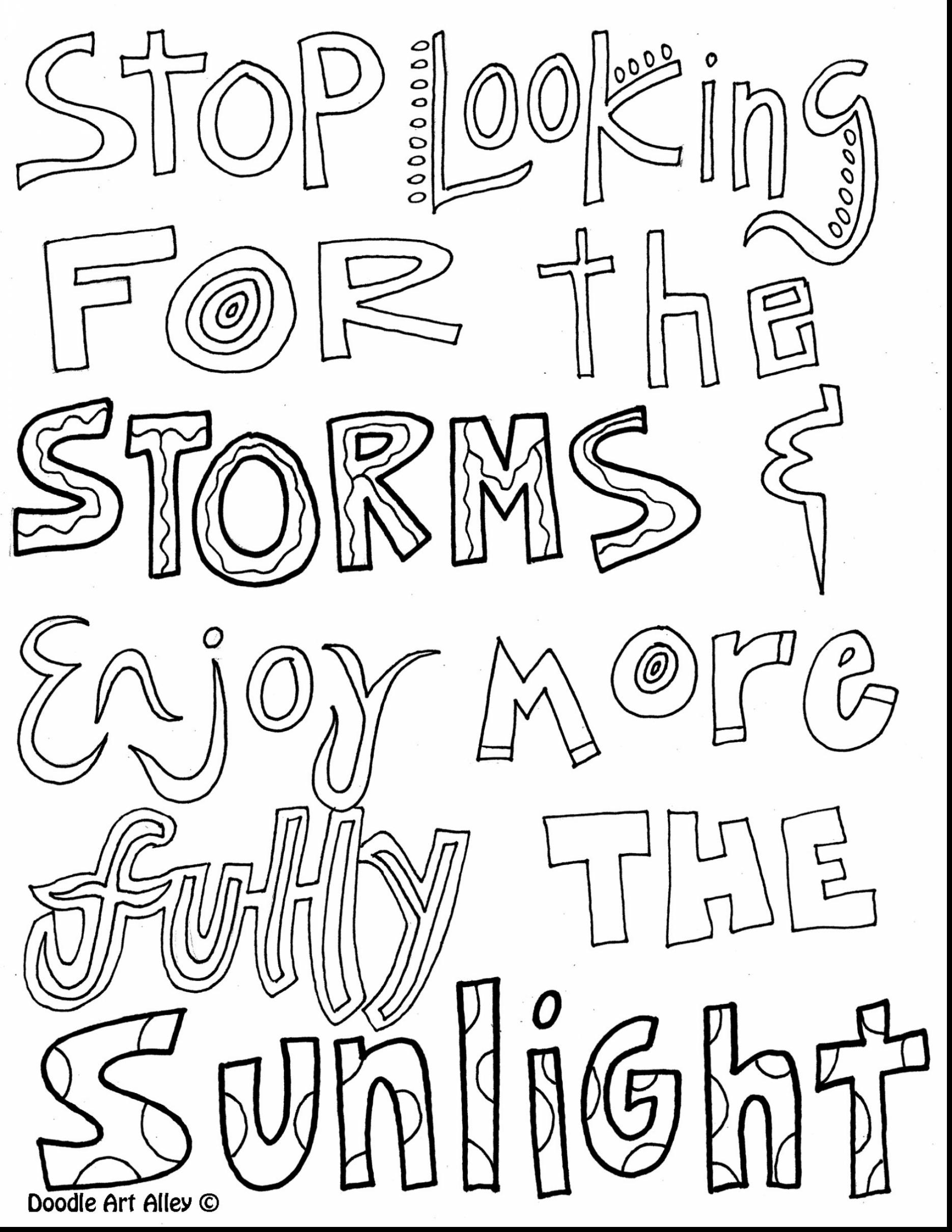 Quote Coloring Pages to Print Printable Download – Free Coloring Sheets