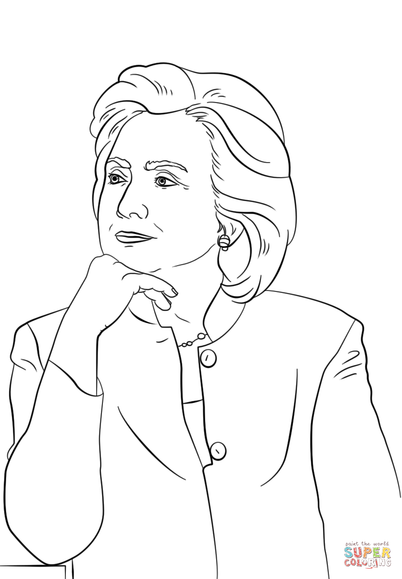 Refundable Donald Trump Coloring Pages Hillary 6920 Unknown Collection Of Hillary Clinton Coloring Pages Collection to Print